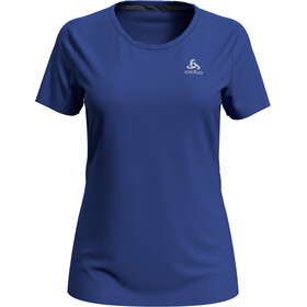 Odlo F-Dry Camiseta Manga Corta Cuello Redondo Mujer, amparo blue
